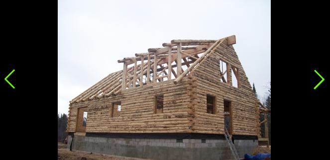 Complete Build of a log cabin home in Hulbert Mi