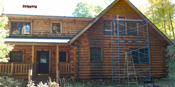 Michigan log home and cabin maintenance and staining for Log cabin maintenance