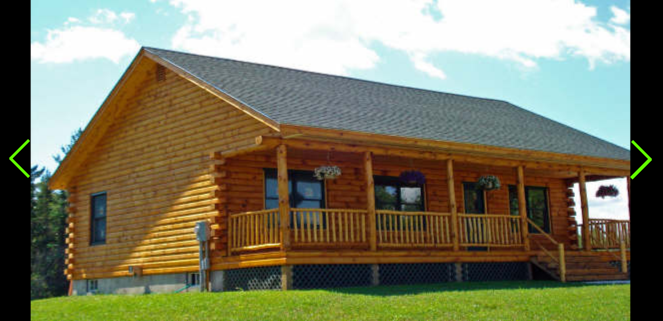 The lodge log cabin treetop log homes and cabin builder in for Log cabin ranch homes