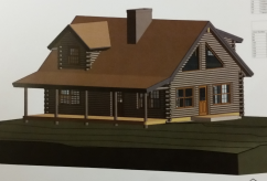 Log home build in michigan