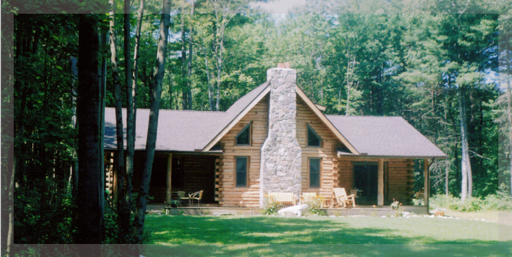 The dakota is a ranch style log home treetop log homes is for Ranch style log home designs