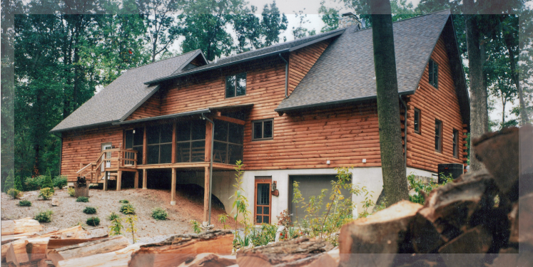 Two Story Eisenhower Model Of Treetop Log Homes And Cabins