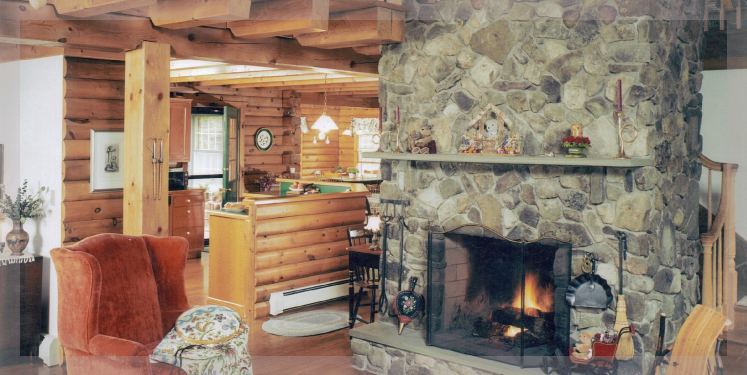 The Greylock Is A Ranch Style Log Home Treetop Log Homes