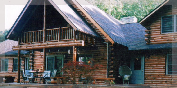 Two Story Monroe Model Of Treetop Log Homes And Cabins In