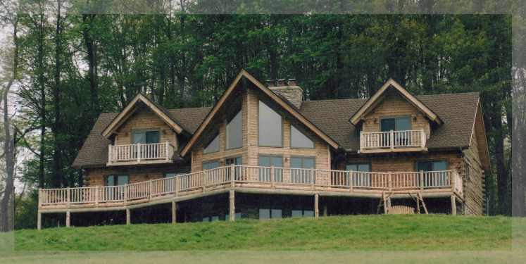 Two Story Roosevelt Model Of Treetop Log Homes And Cabins