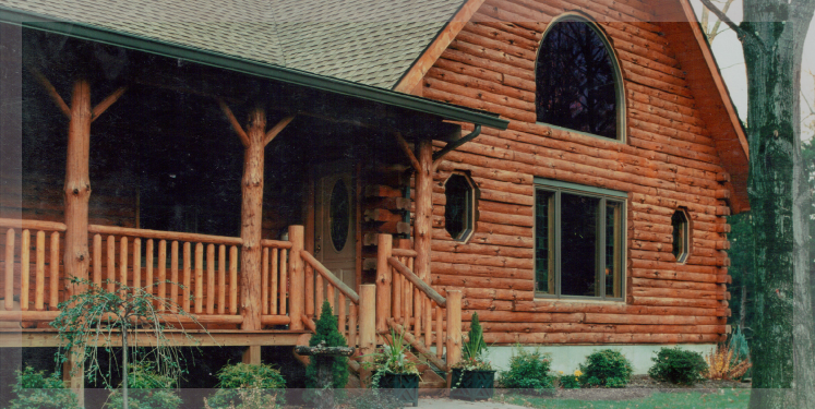 The Sante Fe Is A Ranch Style Log Home Treetop Log Homes