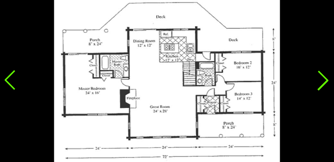 The wyoming is a ranch style log home treetop log homes for Mi homes ranch floor plans