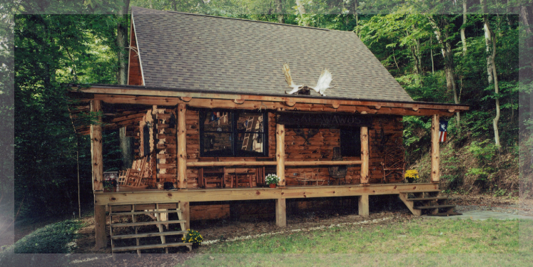 Ranch style log homes by treetop log homes in michigan for Ranch style log home designs